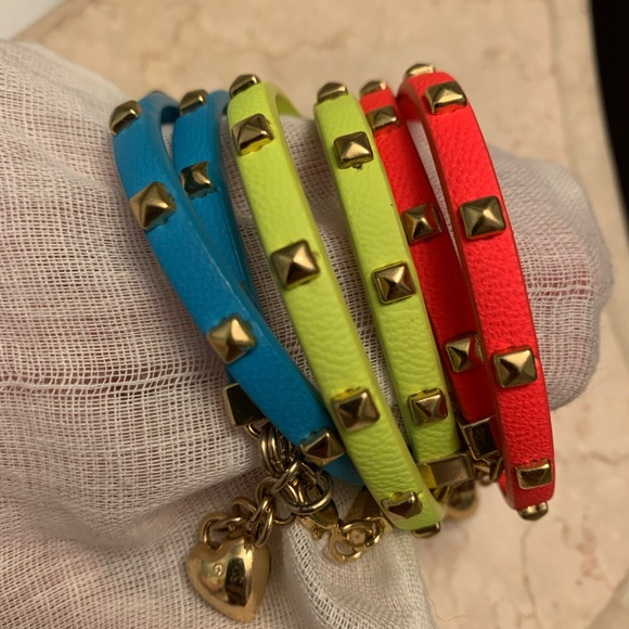Juicy Couture B-Pyramid Studded Bracelets